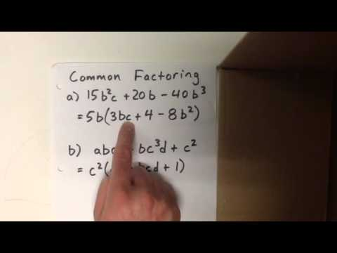 Common factoring examples