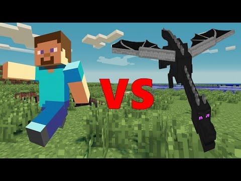Steve VS Ender Dragon - Minecraft