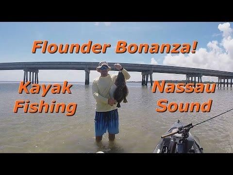 Flounder bonanza kayak fishing at nassau sound