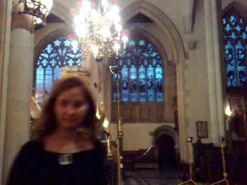 another one of rehearsals at Holy Trinity Church, London