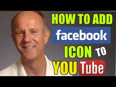 How To Add A Facebook Icon To Your YouTube Channel - Tutorial