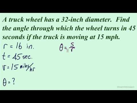 Arc Length and Angular Speed - Part 8 (Velocity Example)