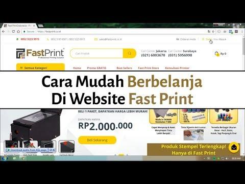 Cara Mudah Berbelanja Di Website Fast Print