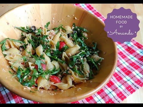 Shell Pasta Salad with Salmon | Homemade Food by Amanda