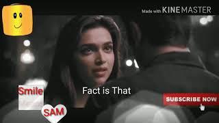 I LOVE YOU whatsapp status video,  Hindi video English subtitles, deepika padukone whatsapp status