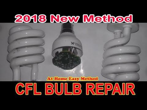 How to Repair CFL energy saver bulb at home