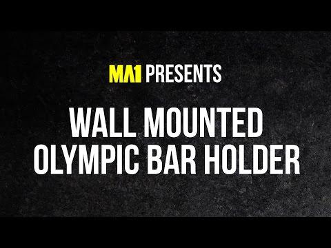 MA1 Wall Mounted Olympic Bar Holder - Gun Rack