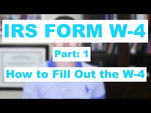 IRS Form W-4 Part: 1 How to Fill Out the W-4