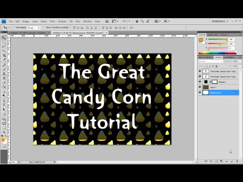 Photoshop Tutorial for Halloween: How to make a Candy Corn Pattern