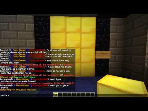 Minecraft Warp Portals Tutorial