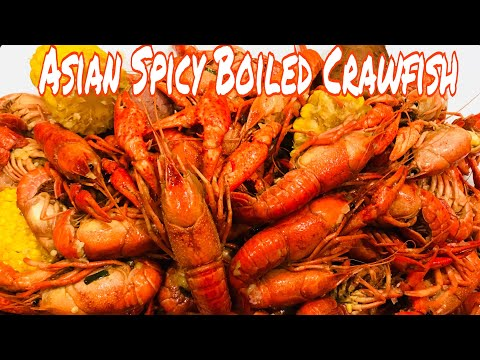 Asian Spicy Boiled Crawfish (Cooking Outside)