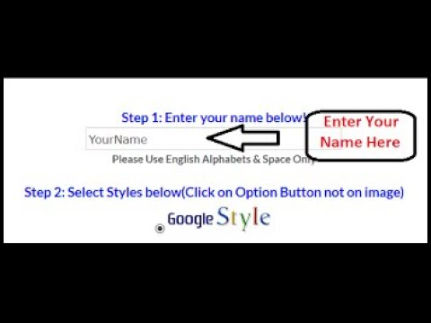 How to change Google Logo With Your Name
