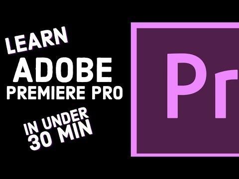 Premiere Pro CC 2018 Tutorial