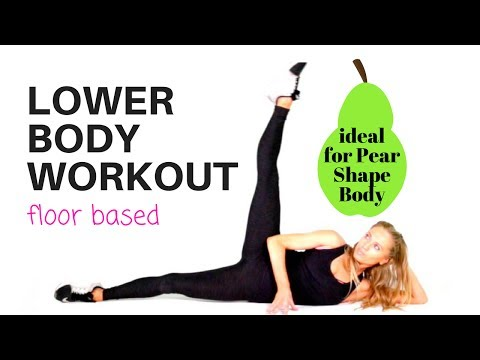 HOME WORKOUT FOR WOMEN - LOWER  BODY - thighs, legs and booty, all floor based moves pilates style