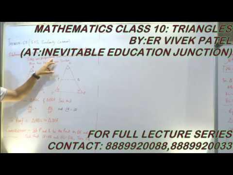 SAS CRITERION OF SIMILARITY THEOREM 6.5 CLASS 10