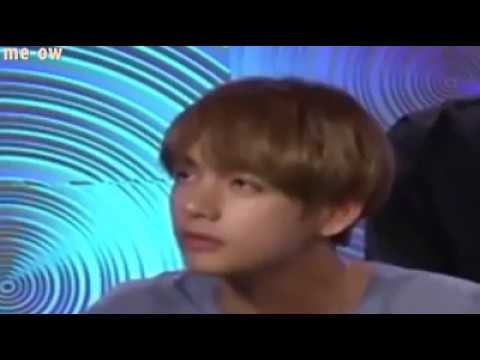 Kim Taehyung a.k.a V during BTS interview with Yahoo Music