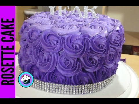 How to make Ombre Rosette Cake - Pinch of Luck