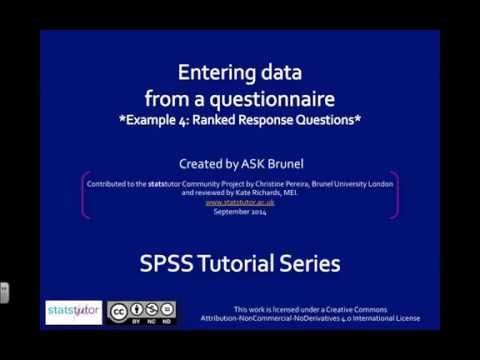Questionnaire data in SPSS - Ranked response question