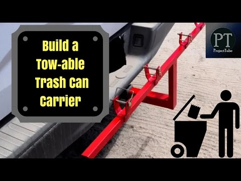 How to build a tow hitch mounted carrier for your trash bins DIY