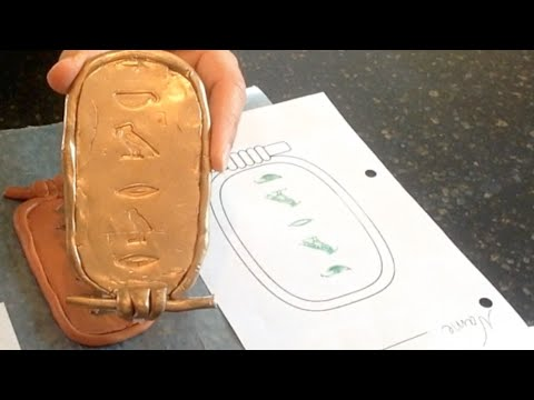 Ancient Egypt Crafts for Kids:  Make a Cartouche
