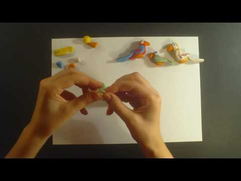 How to make a parrot toy with clay