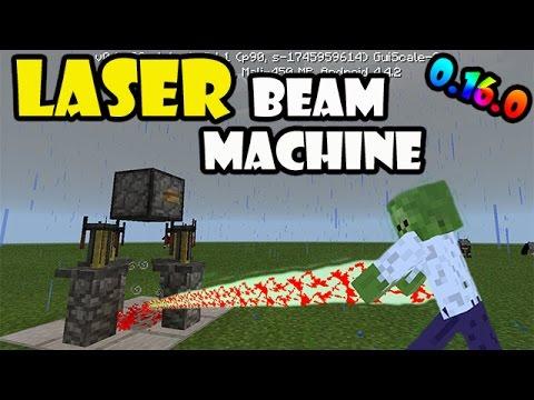 LASER BEAM MACHINE | Minecraft PE 0.16.0