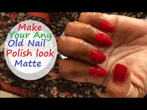 How to Make Your Nail Polish Look Matte at Home - Simple