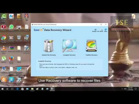 How to Recover files from RAW File System Seagate external hard drives