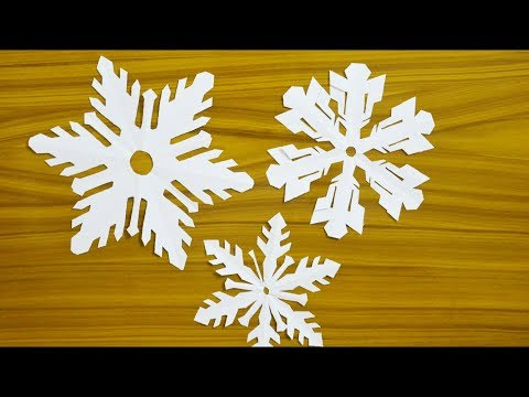 Christmas Decoration Idea at Home - Paper Snowflake DIY