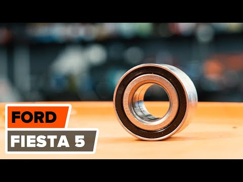 How to replace a Rear wheel bearing on FORD FIESTA 5 TUTORIAL | AUTODOC