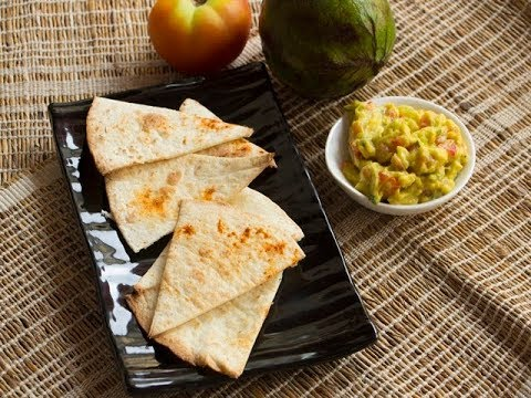 Baked Tortilla Chips with Avocado Dip/ Tortilla Chips Recipes/ Continental Recipes