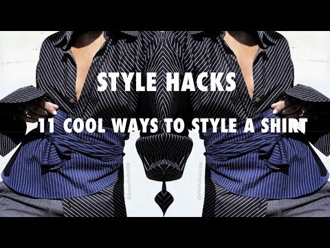 11 SURPRISING WAYS TO WEAR BUTTON DOWN SHIRTS  | BACKWARDS, BELT STYLE & MORE!!!