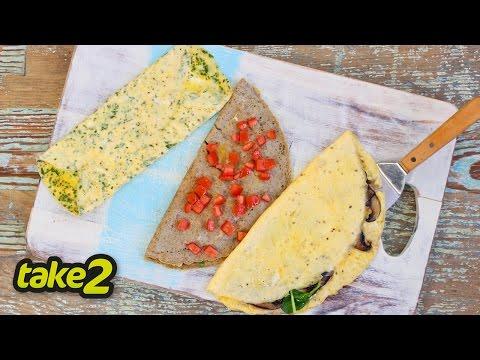 Quick Omelette Recipe - 3 ways