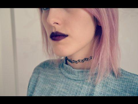 DIY tattoo choker necklace / Tattoo Kette [eng sub]