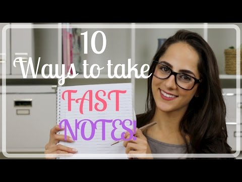 How To Take FAST Notes! | Study With Jess