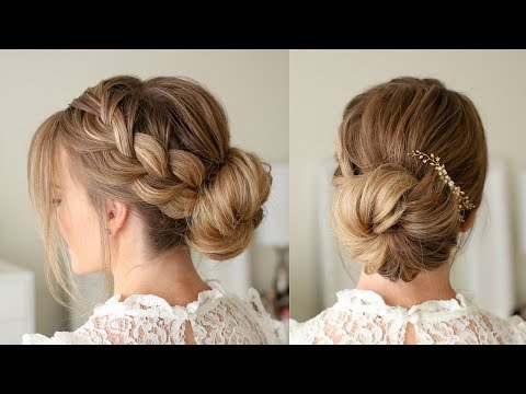 French Braid Low Bun | Missy Sue