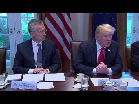 Trump: NATO is improving burden-sharing, largest increase of spending in 25 years *May 17 2018