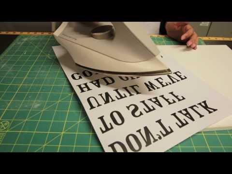 DIY Simple Printable To Wood Transfer Sign