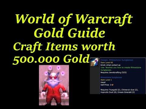 World of Warcraft Legion Gold Farm // Craft Items worth 500K GOLD!!