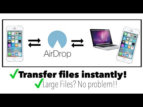 Transfer Files with AirDrop - easy & fast! (2017)