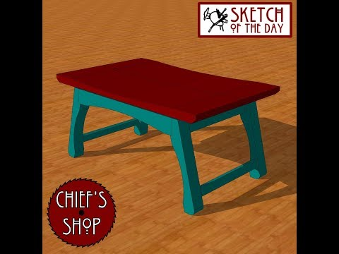Chief's Shop Sketch of the Day: Asian-Inspired Stool