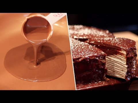 Chocolate Crepe Cake Review- Buzzfeed Test #123