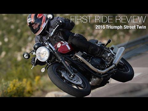2016 Triumph Street Twin First Ride Review - MotoUSA