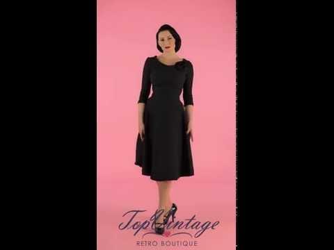 TopVintage - 50s First Lady swing dress black
