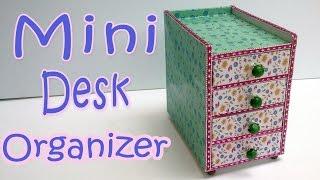 How to make a Mini Desk Organizer - Ana | DIY Crafts.