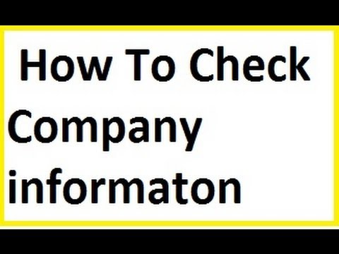 How to check company registered or not vlr training