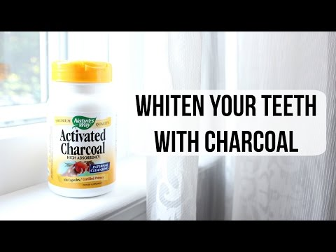 How To Get Whiter Teeth with Activated Charcoal // DanniAndChels
