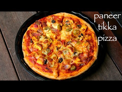 paneer pizza recipe | paneer tikka pizza | homemade pizza with paneer