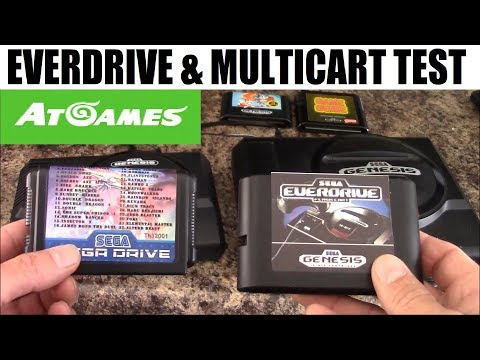 Sega Genesis Flashback HD: Everdrive and Multicart test: AT Games