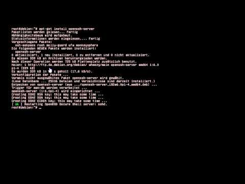 SSH Server Installation  Debian/Linux